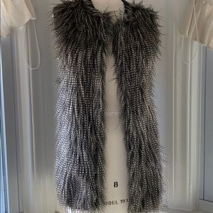 Feather sweater vest